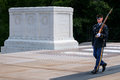 Ceremonial Guard At The Tomb Of The Unknown Soldier At Arlington National Cemetery Royalty Free Stock Image - 77668376