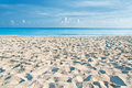 Empty Cuban Beach In The Morning Royalty Free Stock Images - 77670299