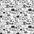 Vector. HA HA Seamless Pattern. Funny Background Suitable For Paper Or Textile Print, Card Or Web Background. No Background Color, Royalty Free Stock Photo - 77683735
