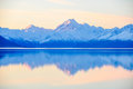 Sunset Reflection At Mount Cook In New Zealand Royalty Free Stock Image - 77698296