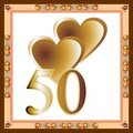 50th Anniversary Card Stock Photo - 7771360