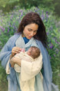 Smiling Virgin Mary With Child Royalty Free Stock Photo - 77708755
