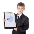 Business Concept - Little Boy In Business Suit Showing Results O Stock Image - 77714551