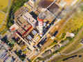 Combined Heat And Power Plant With Fuming Chimney Stock Image - 77735441