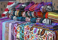 Scarves And Knitted Slippers In A Street Market, Uzbekistan Stock Photography - 77738742