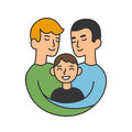 Same Sex Parents Illustration Stock Photography - 77739332