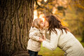 Mother S Sunset Kiss Stock Image - 77750681