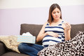 Pregnant Woman With Fever Stock Photography - 77771962