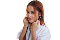 Asian Young Female Doctor Smile  Use Stethoscope. Royalty Free Stock Image - 77793366