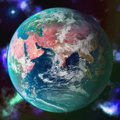 Abstract Green Planet And Star In Space Royalty Free Stock Photos - 7783978