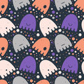 Pattern Colorful Ghost Stock Image - 77815051