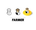 Farmer Icon In Different Style Royalty Free Stock Photography - 77826927