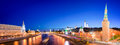 Panorama Of The Moskva River With The Kremlin S Towers At Night, Moscow, Russia Stock Photography - 77850502