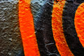 Abstract Orange And Black On Textured Background Stock Photo - 77854570