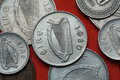 Coins Of Ireland. Celtic Harp Stock Image - 77855931