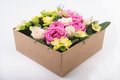 Gift Box With Flowers Royalty Free Stock Images - 77861999