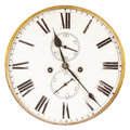 Vintage Weathered Ancient Clock Stock Image - 77862141