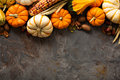 Fall Background With Pumpkins Royalty Free Stock Image - 77867616