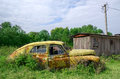 Old Abandoned Rustic Yellow Car Royalty Free Stock Images - 77869029