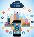 Smart City And Internet Of Things Concept Royalty Free Stock Image - 77898456
