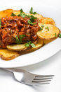 Potatoes With Meat Tomato Sauce Stock Images - 7790824