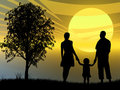 Family At Sunset Stock Images - 7795224