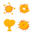 Boom Explode Effect Set. Vector Royalty Free Stock Images - 77908979