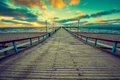 Wooden Pier Over Sea Stock Photography - 77926092