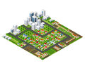 Isometric Perspective City Royalty Free Stock Photography - 77937327