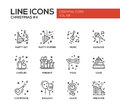 Christmas And New Year - Line Design Icons Set Stock Photo - 77962130