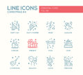 Christmas And New Year - Line Design Icons Set Stock Photography - 77962292
