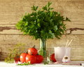 Tomatoes And Parsley Stock Photos - 77965783