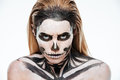 Portrait Of Woman With Terrifying Halloween Makeup Royalty Free Stock Photos - 77968948