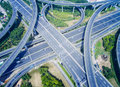 Aerial View Of Highway Overpass Stock Images - 77998444
