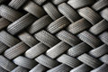 Stacked Tires In A Pattern Royalty Free Stock Photo - 785505