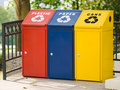 Three Recycling Bin Royalty Free Stock Images - 7807059