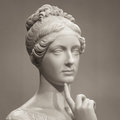 White Marble Head Of Young Woman Royalty Free Stock Photos - 78006098
