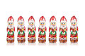 Santa Claus Chocolate Figure  Xmas Decoration Royalty Free Stock Images - 78009959
