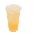 Ice Green Tea With Lychee Fruit In Takeaway Glass Royalty Free Stock Photo - 78010315