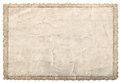 Old Paper Frame Photos And Pictures. Used Cardboard Texture Royalty Free Stock Photos - 78038708