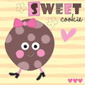 Sweet Cookie Vector Illustration Stock Photography - 78039212