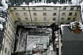 The Old Yard In Winter Lviv Top View Stock Photo - 78063520