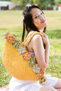 Beautiful Asian Girl In The Park Stock Photo - 7811750
