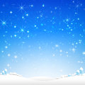 Star Night And Snow Fall Bakcground Vector Illustration 002 Royalty Free Stock Photos - 78104248