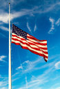 America Flag Flying At Half-Staff Stock Photos - 78114043