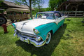 Amazing Beautiful Closeup Front View Of Classic Vintage Retro Car In Outdoor Park Royalty Free Stock Images - 78124749