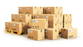 Cardboard Boxes On Shipping Pallets Royalty Free Stock Images - 78134119