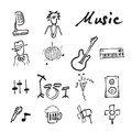 Music And Concert Doodle Icons Set Stock Photos - 78134633