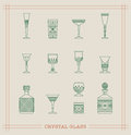 Vintage Crystal Glass Royalty Free Stock Images - 78142159
