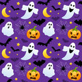 Halloween Ghosts & Pumpkins Seamless Royalty Free Stock Photo - 78182695